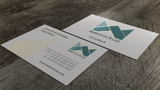 MOO Business Card Mockup with Gold Foil Angle 4