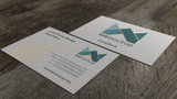 MOO Business Card Mockup with Gold Foil Angle 5