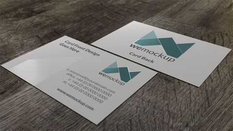 MOO Business Card Mockup with Spot Gloss