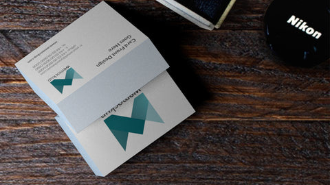 Moo Luxe Business Card Mockup Montage On Wooden Desk Wemockup