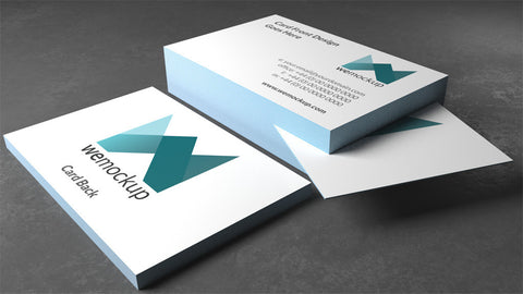 MOO Luxe Business Card Mockup tool online pack of 3 images