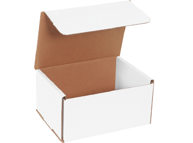 8 x 6 x 4 White Corrugated Mailers