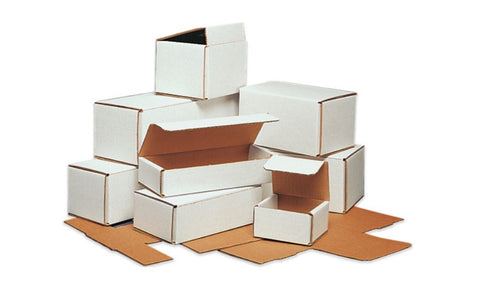 5 x 5 x 3 White Corrugated Mailers - Shipping-Depot