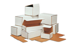 5 x 5 x 4 White Corrugated Mailers - Shipping-Depot