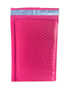 Hot Pink Poly Bubble Mailers - Shipping-Depot