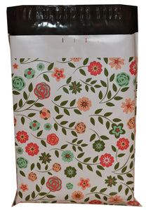 10x13 I Custom Shabby Chic Flowers | Poly Mailers - Shipping-Depot