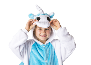 Kids White Blue Unicorn Yumio