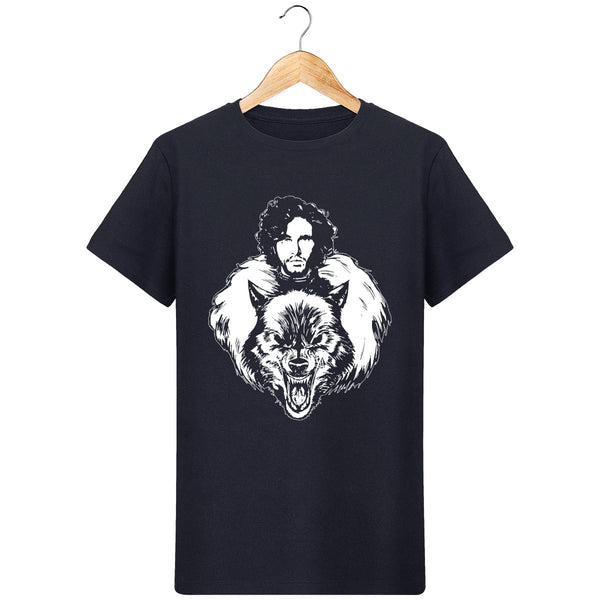 T-Shirt game of thrones jon snow loup pour homme