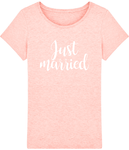 T-shirt Femme personnalisé just married