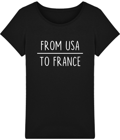 T-shirt from USA to france pour femme