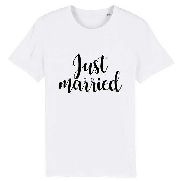 T-shirt Unisexe 100% coton BIO Just Married Mariage