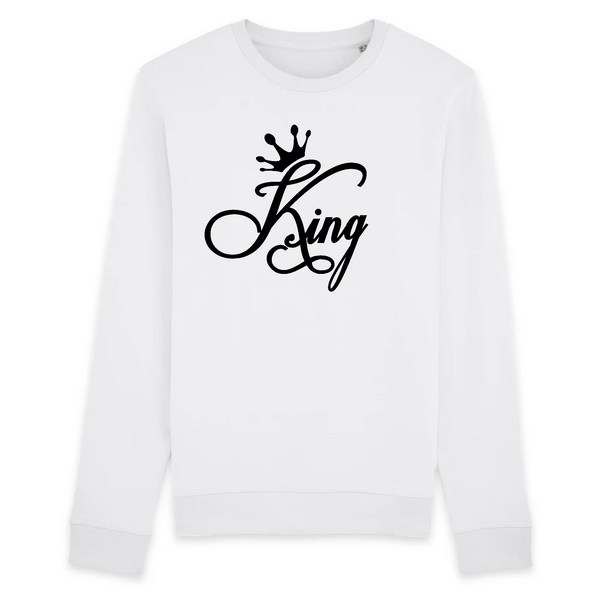 Sweat Unisexe coton BIO King pour couple