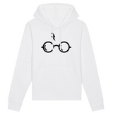 Sweat à capuche Unisexe coton BIO Harry Potter Lunettes