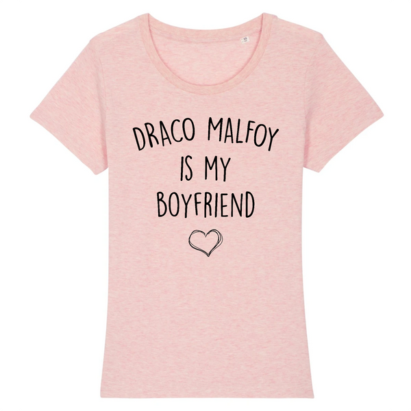 T-shirt Femme 100% coton BIO Harry Potter Draco Malfoy is my boyfriend