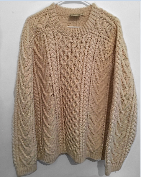 Vintage Cable Knit Sweater - wardrobecult
