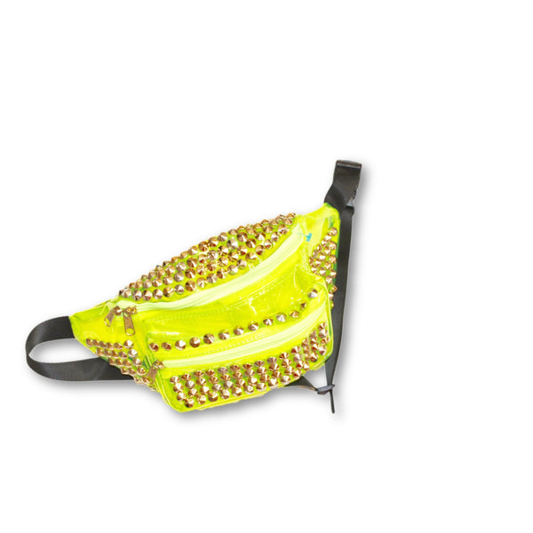 Neon studded fanny pack - wardrobecult