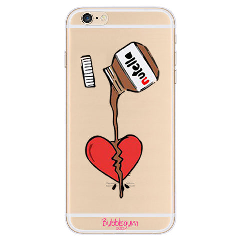 iPhone Funny Food Tpu NUTELLA HEART Case
