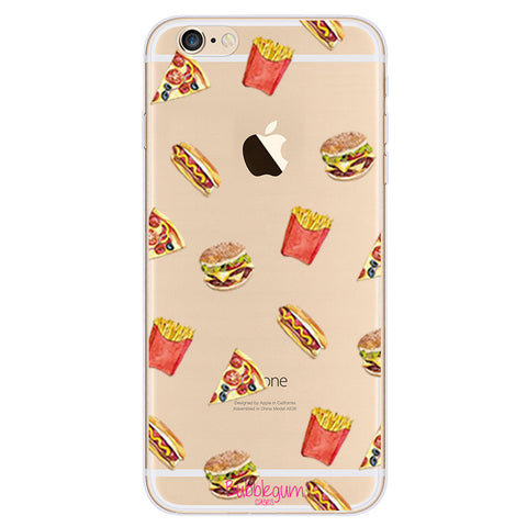 iPhone Funny Food Tpu JUNK FOOD Case