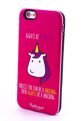 "iPhone Case ""Be a Unicorn' Quote"