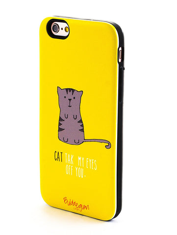 """CAT take my eyes off you"" Quote iPhone Case"