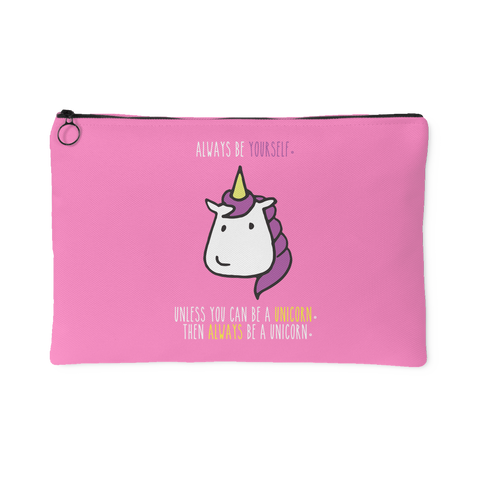 'Be a Unicorn' Pink Accessory Pouch
