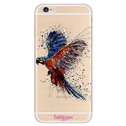 iPhone Artistic Animals Tpu Parrot Wings