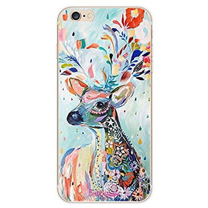 iPhone Artistic Animals Tpu Reindeer