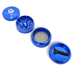 1.5 inch 4-Piece Aluminum Grinder - Blue - Green Goddess Supply