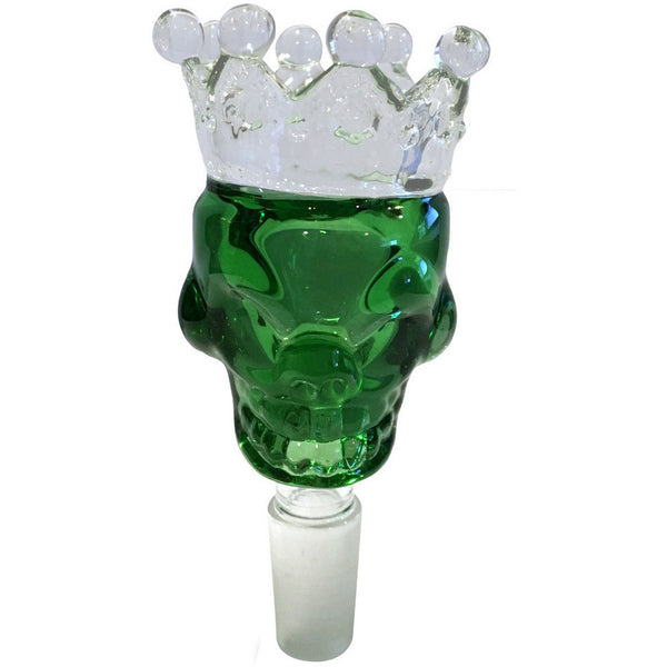 14mm Male Green Skull Crown Herb Holder
