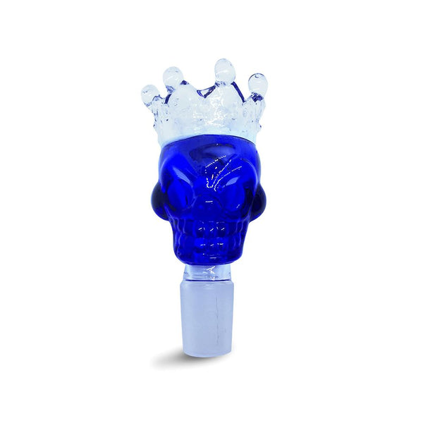 19mm Male Blue Skull Crown Herb Holder