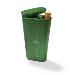 "4"" Aluminum Dugout with Magnetic Top - Green - Green Goddess Supply"