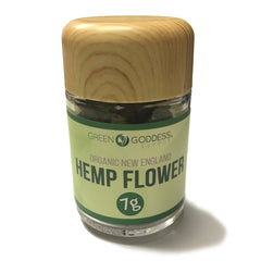 7g (one quarter) High Quality Hemp Flower Jar - Suver Haze - Green Goddess Supply