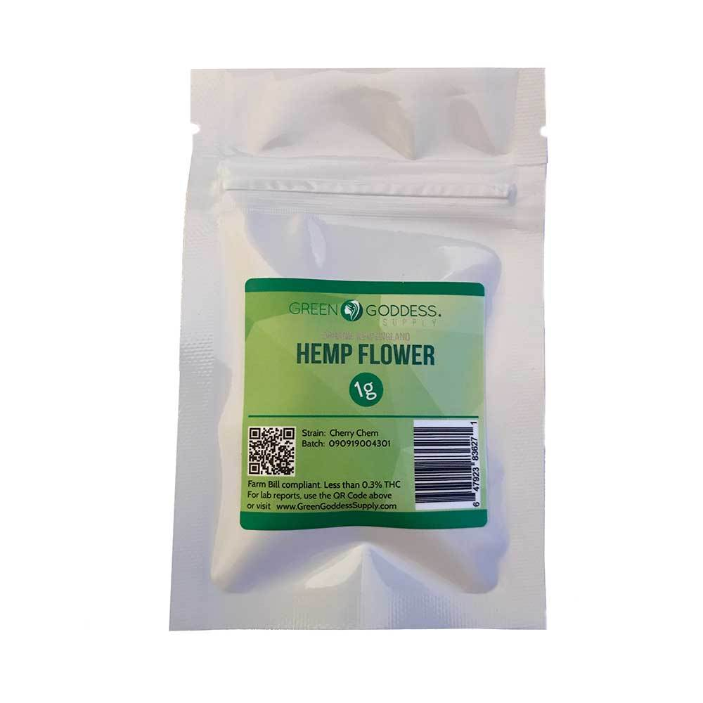 1g Hemp Flower Packet - Green Goddess Supply