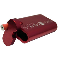 "3"" Anodized Aluminum Dugout - Red - Green Goddess Supply"