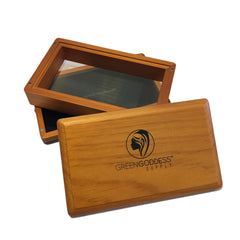 Medium Walnut Pollen Sifter Box - Green Goddess Supply