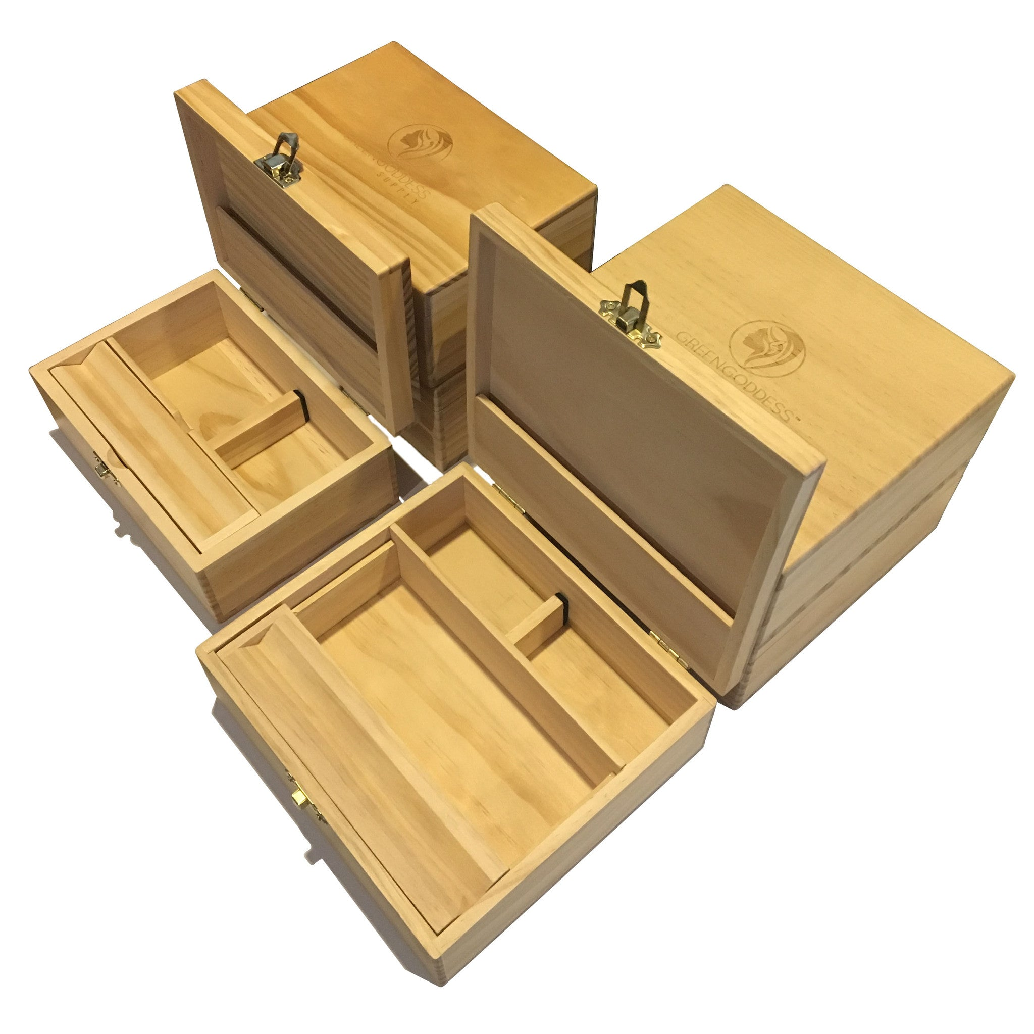 Wooden Storage Box Bundle - Green Goddess Supply
