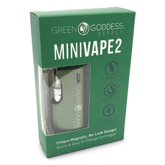 MiniVape 2 - Compact, Discreet, State-of-the-Art Oil Vaporizer (Green) - Green Goddess Supply