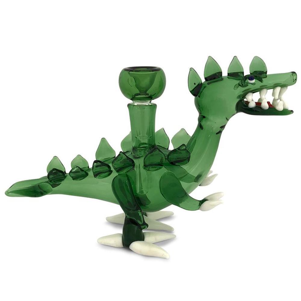 Green Dinosaur Glass Water Pipe