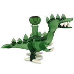 Green Dinosaur Water Pipe - Green Goddess Supply