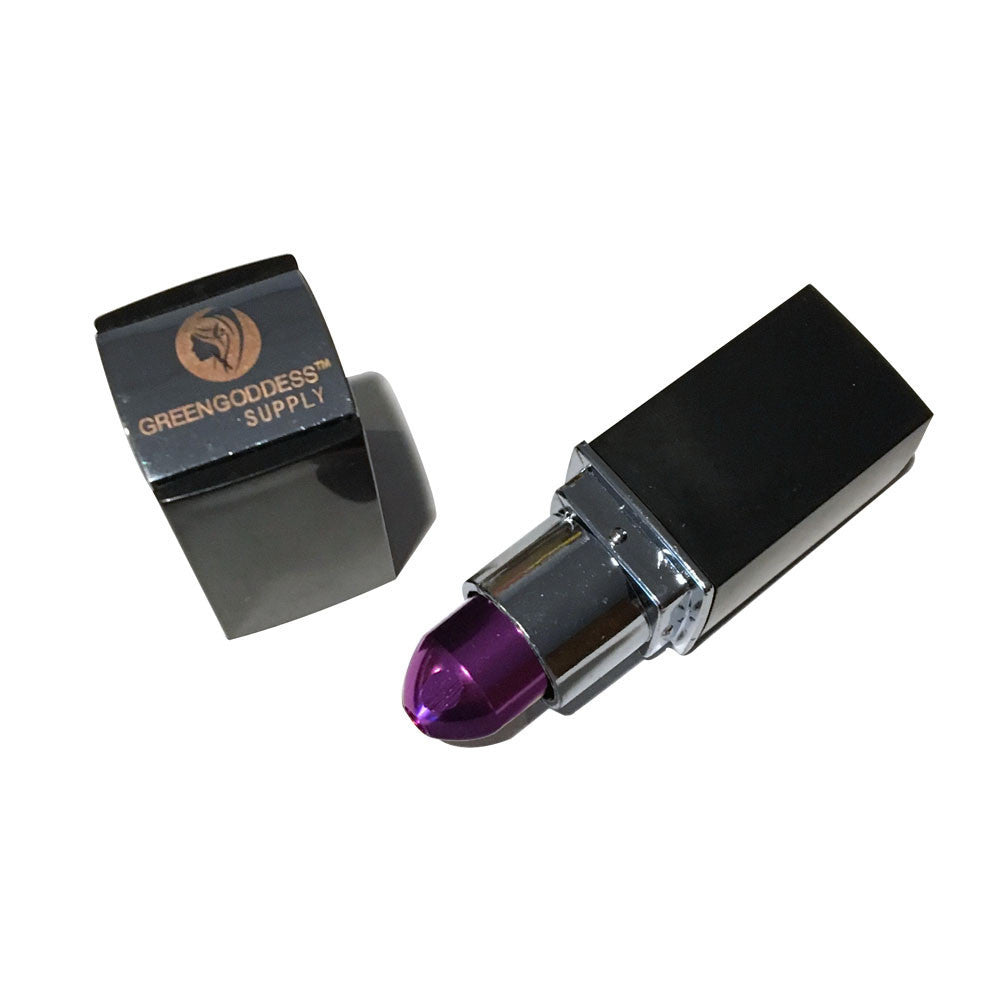 Lipstick Novelty Pipe - Purple - Green Goddess Supply