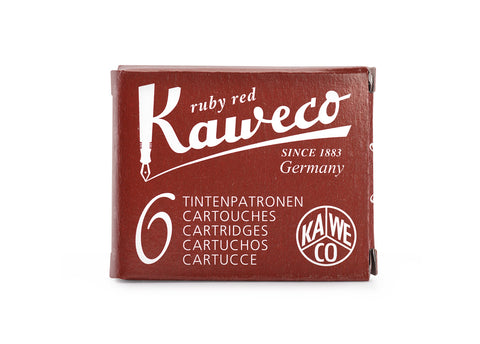 Kaweco Ruby Red Ink Cartridges (6)
