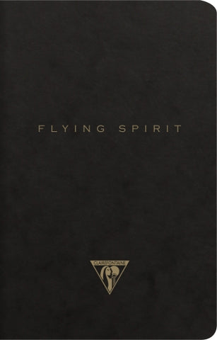 Clairefontaine Flying Spirit Notebook - Black Clothbound (96 Sheets)