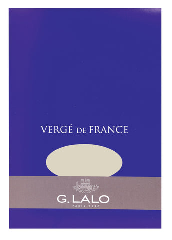 G. Lalo Vergé de France A5 Stationary Tablet - Champagne