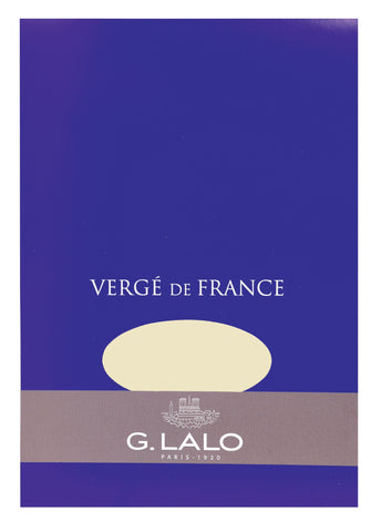 G. Lalo Vergé de France A5 Stationary Tablet - Ivory