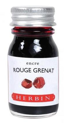 J. Herbin Rouge Grenat Red Bottled Ink (10ml Bottle)