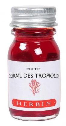 J. Herbin Corail des Tropiques Pink Bottled Ink (10ml Bottle)