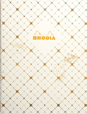 Rhodia Heritage Sewn Spine Notebook - Checkered, Lined (9 3/4 x 7 1/2)