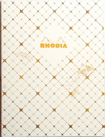 Rhodia Heritage Book Block Notebook - Checkered, Lined (6 x 8 1/4)