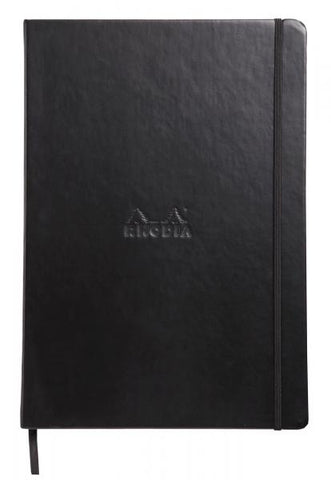 "Rhodia Webnotebook ""Uni"" Black Hardcover A4 Notebook - Blank"