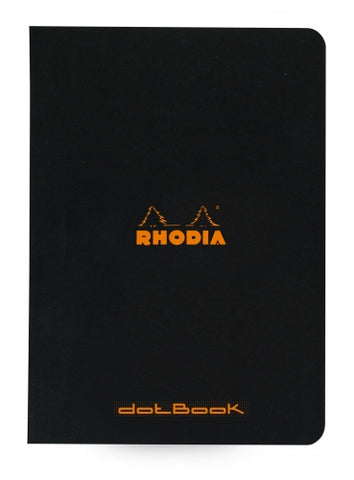 Rhodia Classic Staplebound Notebook (6x8.25)  - Black Dot Grid